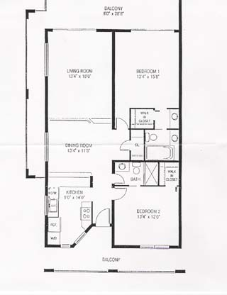 Pelican cove beach condos floor plan for Condo floor plans 2 bedroom