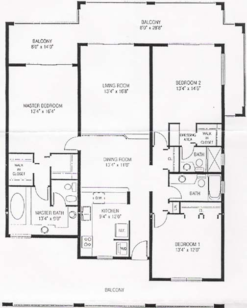 pelican cove beach condos floor plan
